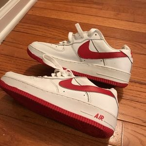 Nike Shoes - Nike Air Force 1, red, size 7